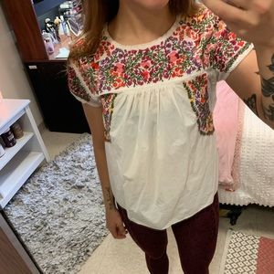 Madewell Floral Top XXS